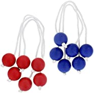 Get Out! Ladder Toss Replacement Bola Strands 6 Pack, 3 Blue 3 Red, Ladder Toss for Backyard Games (Includes 6