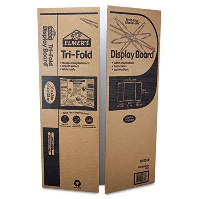 Single Ply Corrugated Display Board, 24 x 36, White, 25/Carton, Sold as 1 Carton, 25 Each per Carton