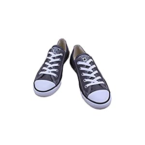 Converse Women's Chuck Taylor Dainty Ox Sneakers - Charcoal - Mens - 6