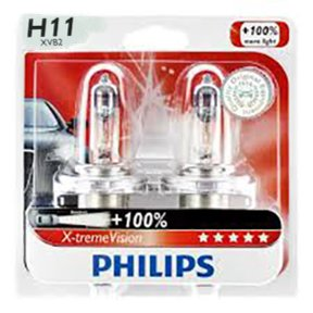 philips h11 xvb2 x treme vision headlights pack of 2 automotive. Black Bedroom Furniture Sets. Home Design Ideas