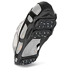 STABILicers Walk Traction Ice Cleat and Tread for Snow & Ice, 1 pair X-Large Black