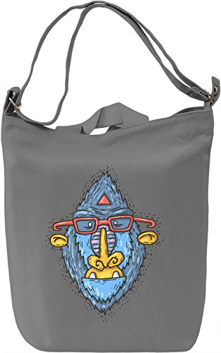 Hipster monkey Borsa Giornaliera Canvas Canvas Day Bag| 100% Premium Cotton Canvas| DTG Printing|