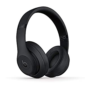 Beats Studio3 Wireless Noise Cancelling On-Ear Headphones - Apple W1 Headphone Chip, Class 1 Bluetooth, Active Noise Cancelling, 22 Hours Of Listening Time - Matte Black