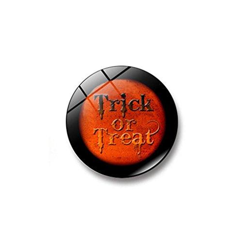 Lucoo Push Pin Magnets, Fridge Magnets, Witch Pumpkin Bat Glass Glue Sign Pattern Dome Glass Fridge Magnet Home Decor Refrigerator Gift Home Decor -