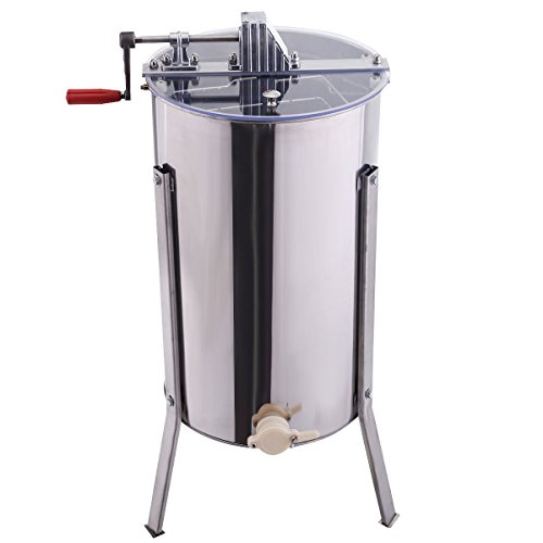 Goplus Large 2 Frame Honey Extractor Beekeeping Equipment Stainless Steel New by Goplus