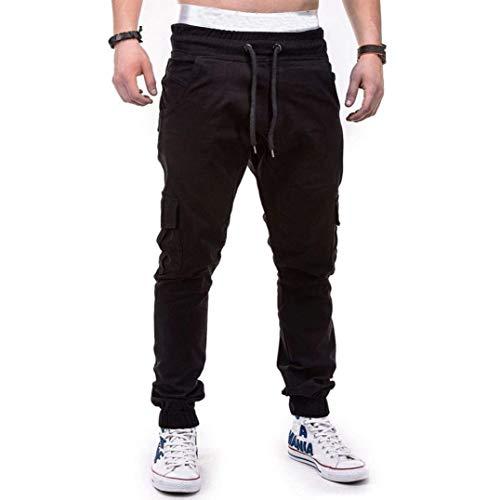 Jeans Nero Estilo Cargo Especial Casual Men Chino Longra Pants Pantaloni In Lunghi Stretch Jogger Tessuto Basic w11ZYq6O
