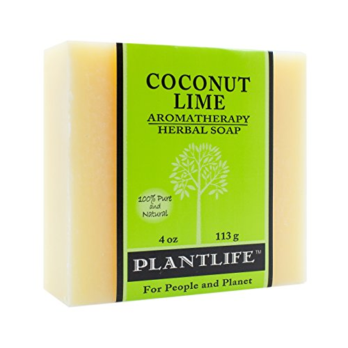 Coconut Lime 100% Pure & Natural Aromatherapy Herbal Soap- 4 oz (113g)