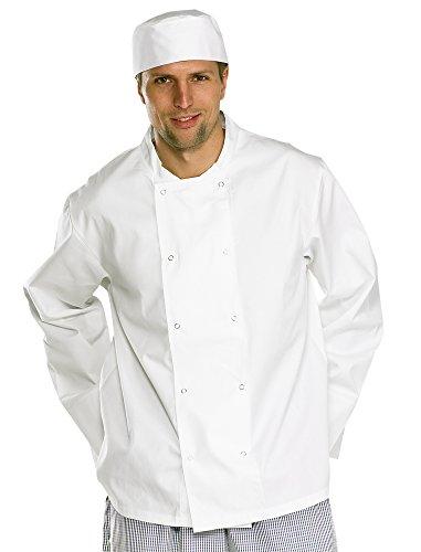 Click Workwear Chef's Long Sleeve Jacket, Weiß, xxxl
