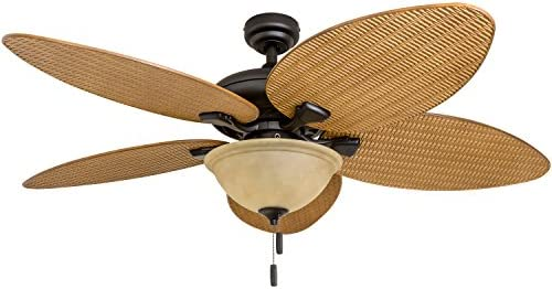 Honeywell Ceiling Fans 50507-01 Palm Island 52-Inch Tropical Ceiling Fan