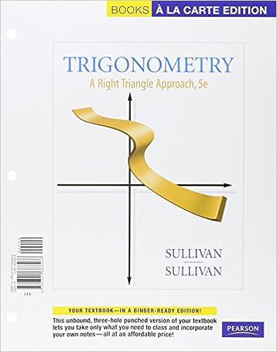 Trigonometry A Right Triangle Approach Books A La Carte Plus