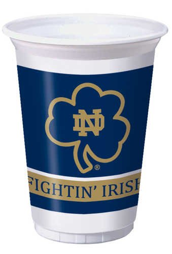 Notre Dame Fighting Irish 20 oz. Plastic Cups, 8-Count -