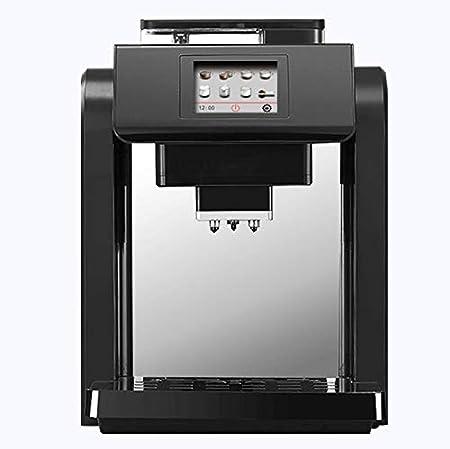 QUANOVO Máquina De Café Totalmente Automática Espuma De Leche Y Moler Cafetera Integrada Pantalla Táctil Inteligente Máquina De Espresso Tres Colores para Elegir,Negro: Amazon.es: Hogar