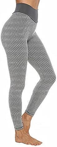 SUPBAO Women Gym Leggings High Waist Yoga Pants Butt-Lifting Trousers Tights Honeycomb Runnning