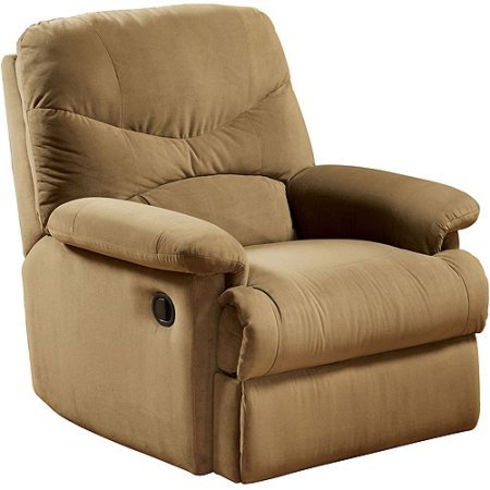 Eshion Wall Hugger Microfiber Recliner Adjustable Chair for Living Room, Multiple Colors (Light Brown)