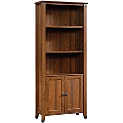 Sauder 416967 Carson Forge Library with Doors, Washington Cherry