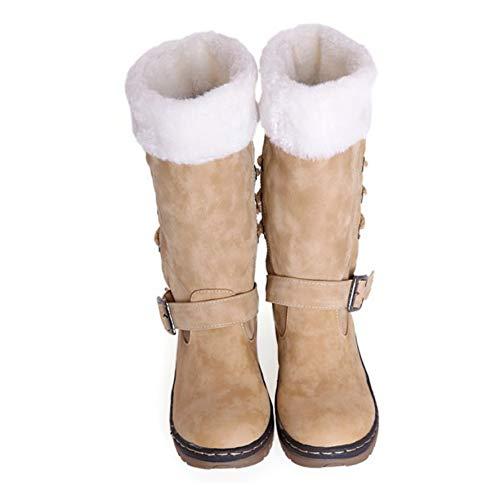 Amarillo Botas Mujer Para De Gruesas Nieve Invierno Gran Algodón Tamaño Liangxie Cálido Pqa1dTP