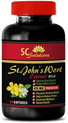 antioxidant Complex Dietary Supplement - ST Johns Wort Extract - Advanced Formula - Natural Complex - Ginkgo biloba - 1 Bottle (60 Capsules)