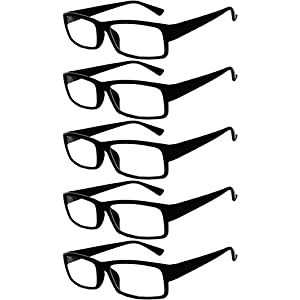Readers 5 Pack of Elegant Womens Mens Reading Glasses with Beautiful Patterns for Ladies and Gentlemens Deluxe Spring Hinge Stylish Look 180 Day Guarantee +2.75