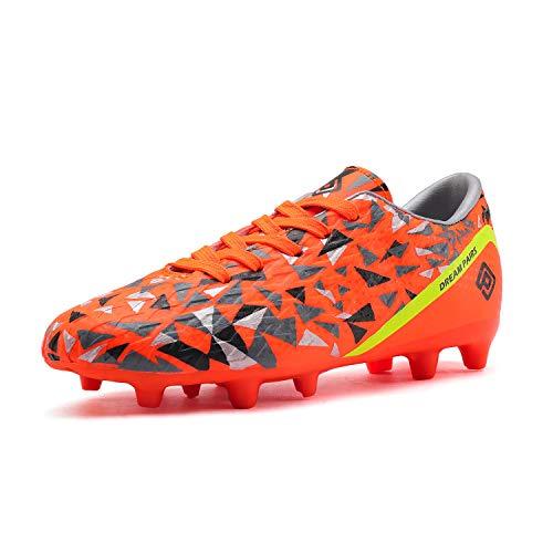 DREAM PAIRS Boys HZ19003K Soccer Football Cleats Shoes Orange Dark Grey Yellow Size 12 M US Little Kid