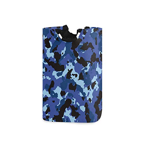 CFAUIRY Collapsible Laundry Basket with Handle Camo Camouflage Print Portable Foldable Laundry Hamper Holder Cloth Hamper
