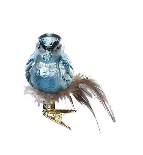Inge-Glas Bird Clip-On Dennis 10217S015 German Blown Glass Christmas Ornament