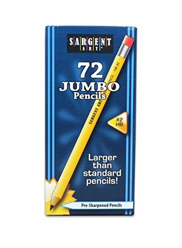 Sargent Art 72 Jumbo Pencils Class Pack, Beginner Yellow Pencils (22-7276)