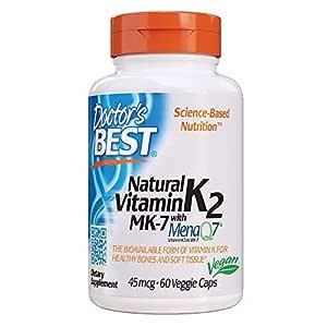 Doctors Best Vitamina Natural K2 Mk7 Con Menaq7, 45Mcg - 60 ...