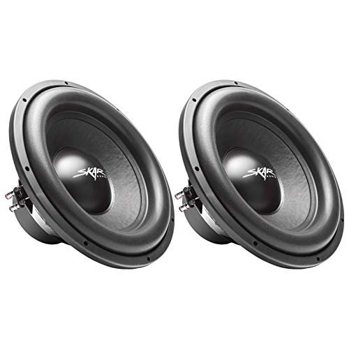 (2) Skar Audio Sdr-15 D4 15″ 1200W Max Power Dual 4 Ohm Car Subwoofers, Pair of 2