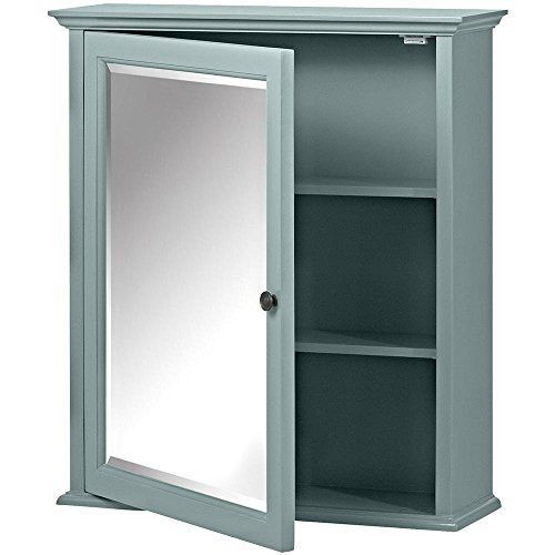 Home Decorators Collection Hamilton Framed Surface-Mount Bathroom Medicine Cabinet in Sea -