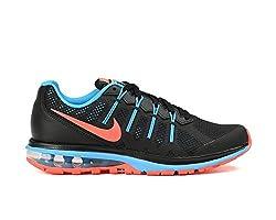 Nike Womens Air Max Dynasty Running Shoe Black/Bright Mango-Blue Glow 6.5