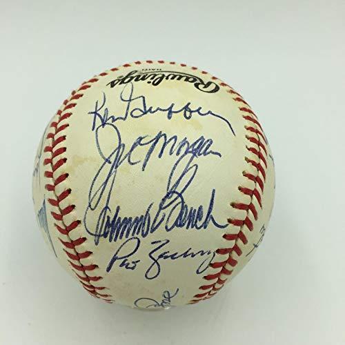 1975 Cincinnati Reds W.S. Champs Team Signed Baseball Big Red Machine JSA ()
