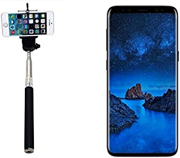 K-S-Trade Selfie Stick palillo para Samsung Galaxy S9, Negro ...