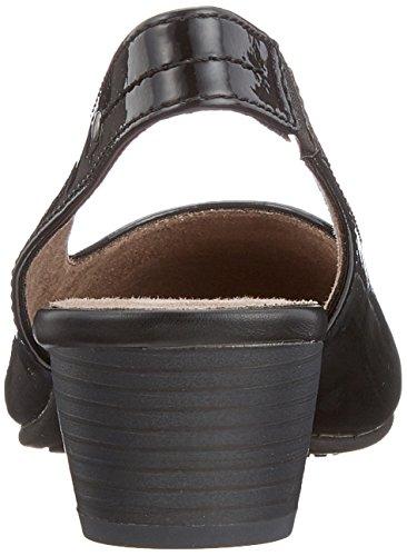 Arrière Femme Noir Sandales Black Softline 29561 Patent Bride WqSw8xxt7I