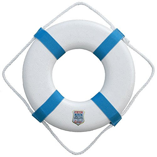 Jim-Buoy P 20 Plastic Life Ring, White, 20