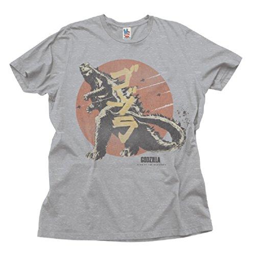 Junk Food Godzilla Heather T Shirt