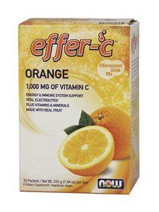 NOW Foods - Effer-C Effervescent Drink Mix Orange - 30 (Effervescent Drink Mix)