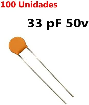 100 PEZZI Condensatore Ceramico a Disco 50V 680 pF