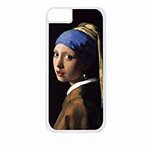 Johanes Vermeer-Girl With Pearl Earring- Case for the Apple Iphone 6-Hard White Plastic Outer Shell
