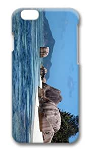 Adorable Island Rock La Digue Seychelles Hard Case Protective Shell Cell Phone Cover For HTC One M7 (5.5 Inch) - PC 3D