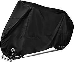 YOMYM Funda para Moto Cubierta de la Motocicleta 190T Oxford Impermeable A Prueba de UV Agua Lluvia Polvo Viento Nieve...