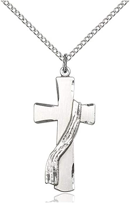 DiamondJewelryNY Sterling Silver Cross Pendant