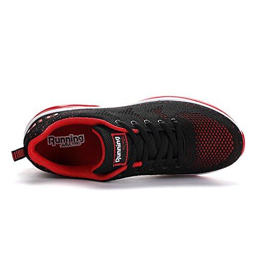 Rot Damen Schwarz Farben Viele Herren Sneaker Sports Air Fitness Turnschuhe Laufschuhe Sportschuhe 36EU Outdoors 46EU Straßenlaufschuhe Axcone Running Sneaker U5q1BTx1