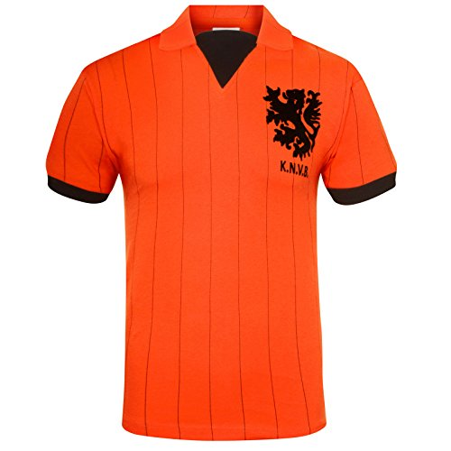 Holland Netherlands Official Soccer Gift Mens 1983 Home Retro Kit Shirt XL