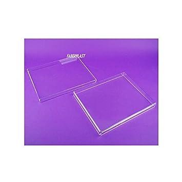 Faberplast FB958 - Caja plana con tapa, color transparente: Amazon.es: Oficina y papelería