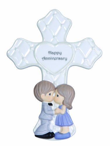 Precious Moments Anniversary Cross with Easel Stand Figurine, 123403