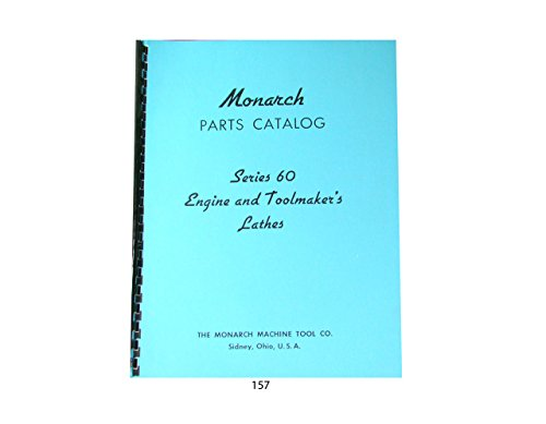 Photo Monarch Lathe Series 60 Parts Catalog