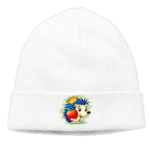 HAIXIA AKKK47 Cute Hedgehog Women's Daily Solid Knit Cap Beanie That Fit Your Head Perfect Stretchy & Soft White (White Soap Creed)
