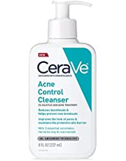 CeraVe Acne Treatment Face Wash   Salicylic Acid Cleanser with Purifying Clay, Niacinamide, and Ceramides   Pore Control and Blackhead Remover   8 Ounce