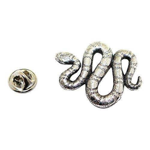 Sarah's Treats & Treasures Snake Pin ~ Antiqued Pewter ~ Lapel Pin