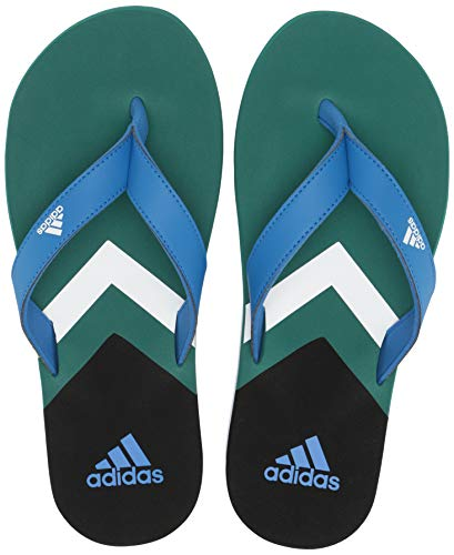 adidas Men's Eezay Flip Flop, True Blue/White/Active Green 13 M US